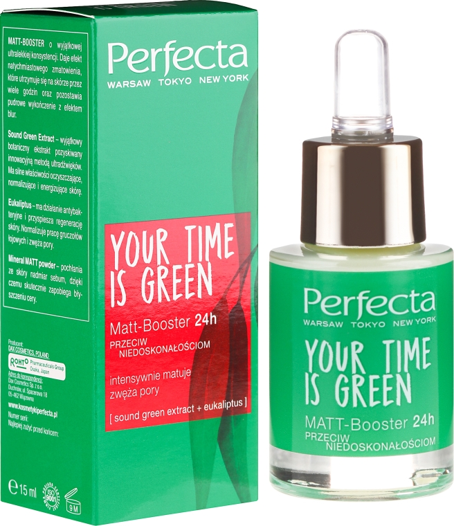 Матиращ бустер за лице - Perfecta Your Time is Green