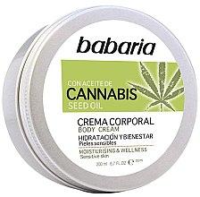Парфюмерия и Козметика Крем за тяло - Babaria Cannabis Moisturizing Body Cream