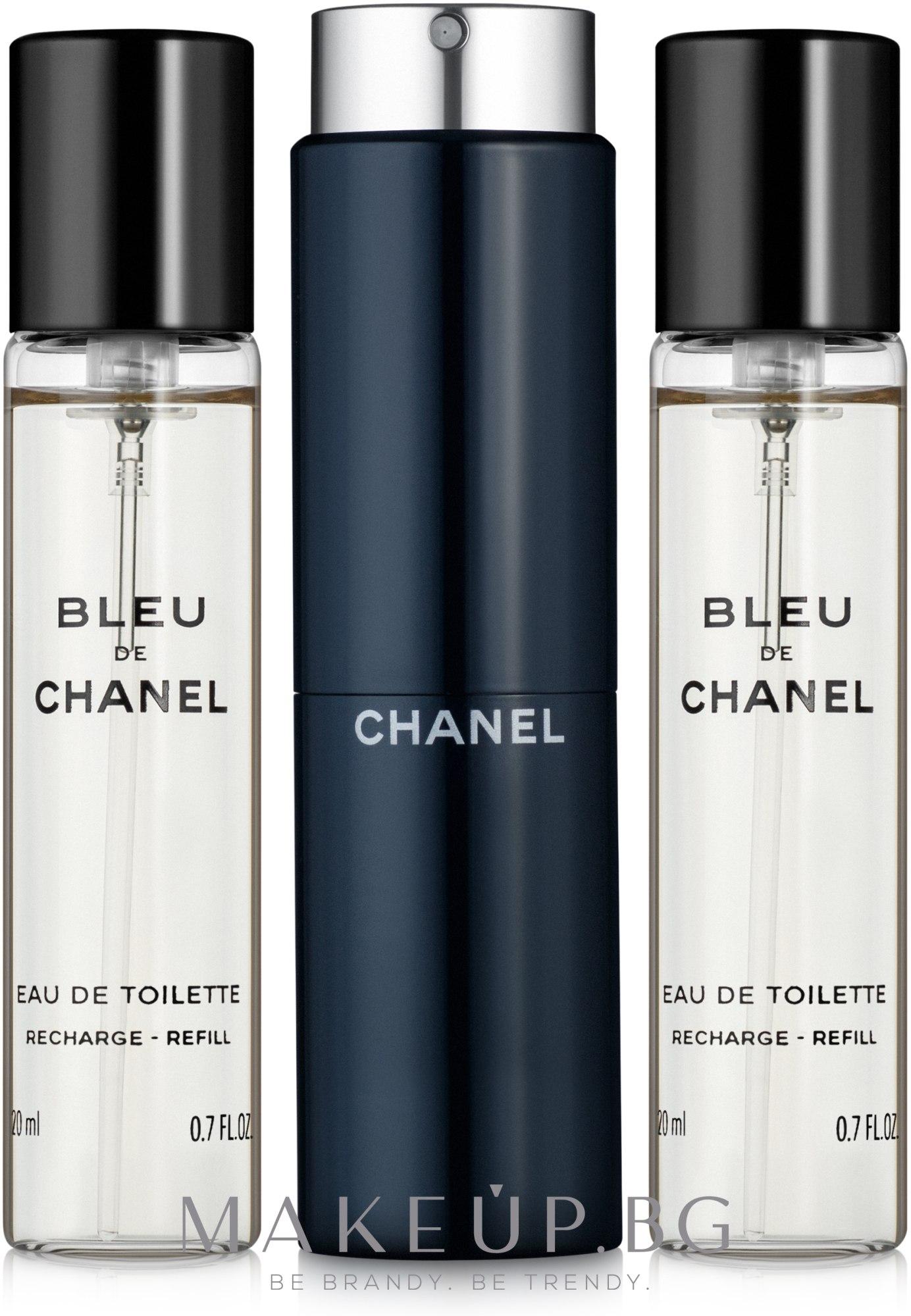Chanel Bleu de Chanel - Тоалетна вода (3 пълнителя и атомайзер) — снимка 3x20 ml