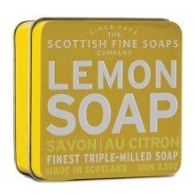 """Парфюмерия и Козметика Сапун """"Лимон"""" - Scottish Fine Soaps Lemon Soap Tin"""