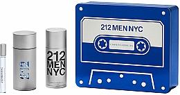 Парфюмерия и Козметика Carolina Herrera 212 Men NYC - Комплект (тоал. вода/100ml + дезод./150ml + тоал. вода/10ml)