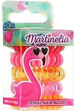 "Парфюми, Парфюмерия, козметика Ластици за коса ""Фламинго"", 5 бр - Martinelia"