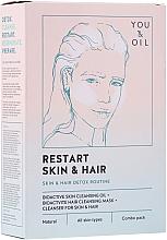 Парфюмерия и Козметика Терапия за лице и коса - Restart Skin & Hair. 3 in 1 Bundle