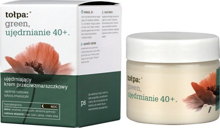 Нощен крем против бръчки - Tolpa Green Firming 40+ Rejuvenating Anti-Wrinkle Night Cream