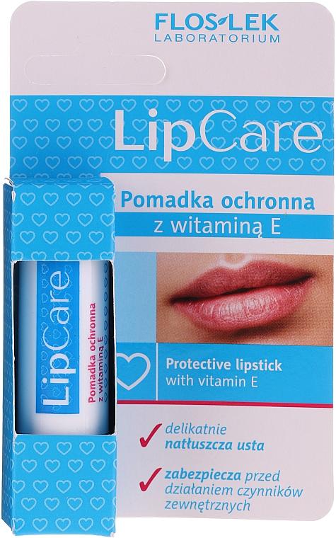 Защитен балсам за устни с витамин Е - Floslek Lip Care Protective Lipstick With Vitamin E