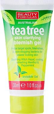 """Противовъзпалителен гел за лице """"Чаено дърво"""" - Beauty Formulas Tea Tree Skin Clarifying Blemish Gel"""
