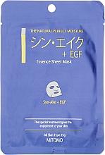 Парфюмерия и Козметика Памучна маска за лице със змийски пептиди и EGF - Mitomo Essence Sheet Mask Syn-Ake + EGF