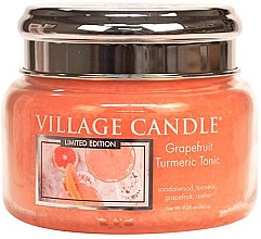 Парфюми, Парфюмерия, козметика Ароматна свещ в бурканче - Village Candle Grapefruit Turmeric Tonic Glass Jar