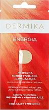 """Парфюмерия и Козметика Маска за тонизиране """"Енергия"""" за уморена кожа"""" - Dermika Energizing and Moisturizing Mask"""