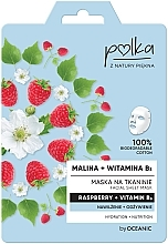 Парфюмерия и Козметика Памучна маска за лице с малина и витамин B3 - Polka Raspberry And Vitamin B3 Facial Sheet Mask
