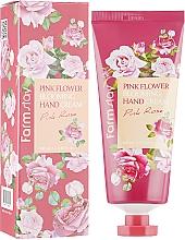 Парфюмерия и Козметика Крем за ръце с екстракт от роза - FarmStay Pink Flower Blooming Hand Cream Pink Rose