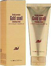 Парфюмерия и Козметика Почистващ крем за лице с екстракт от охлюв - The Orchid Skin Premium Snail Cleansing Cream