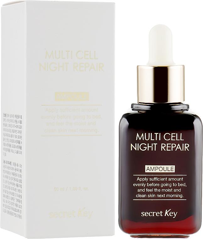 Нощен серум за лице - Secret Key Multi Cell Night Repair Ampoule
