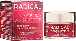 Парфюми, Парфюмерия, козметика Подхранващ нощен крем против бръчки 50+ - Farmona Radical Age Architect Nourishing Anti Wrinkle Cream