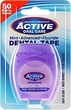 Парфюми, Парфюмерия, козметика Супер тънък конец за зъби с мента - Beauty Formulas Active Oral Care Advanced Mint Waxed Fluor 50 m