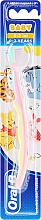 """Парфюмерия и Козметика Четка за зъби, мека, """"Прасчо"""", розово-жълта - Oral-B Baby"""