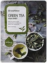 Парфюми, Парфюмерия, козметика Памучна маска за лице със зелен чай - Seantree Mask Sheet Green Tea