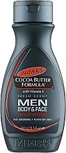 Парфюмерия и Козметика Мъжки лосион за тяло - Palmer's Cocoa Butter Formula Men Body & Face Lotion