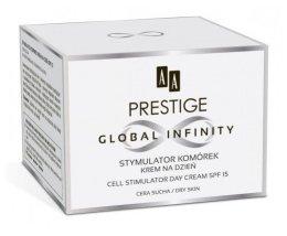 Парфюмерия и Козметика Дневен крем за суха кожа на лицето - AA Prestige Global Infinity Cell Stymulator Day Cream SPF15