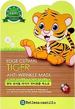 """Памучна маска против бръчки за лице """"Тигър"""" - Belleza Castillo Edge Cutimal Tiger Anti-Wrinkle Mask — снимка N1"""