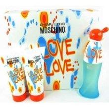 Парфюми, Парфюмерия, козметика Moschino I Love Love - Комплект (edt 50 + b/l 100 + s/g 100)