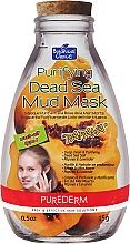 """Почистваща маска за лице с глина от мъртво море """"Папая"""" - Purederm Purifying Dead Sea Mud Mask Papaya — снимка N1"""