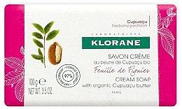Парфюми, Парфюмерия, козметика Сапун - Klorane Cupuacu Fig Leaf Cream Soap