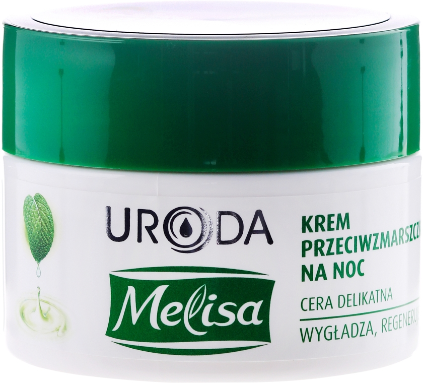 Нощен крем против бръчки - Uroda Melisa Face Cream