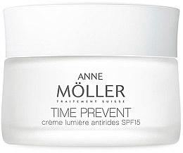 Парфюми, Парфюмерия, козметика Крем за лице - Anne Moller Time Prevent Creme Lumiere Antirides Spf15