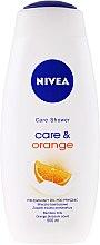 Парфюми, Парфюмерия, козметика Душ гел - Nivea Care & Orange