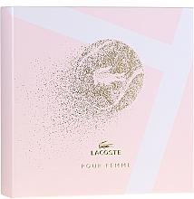 Парфюмерия и Козметика Lacoste Pour Femme - Комплект (парф. вода/50/ml + лос. за тяло/100/ml)
