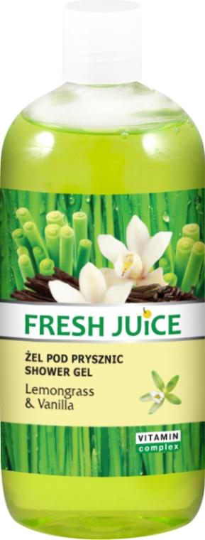 Душ гел с екстракт от лимонова трева и ванилия - Fresh Juice Sexy Mix Lemongrass & Vanilla