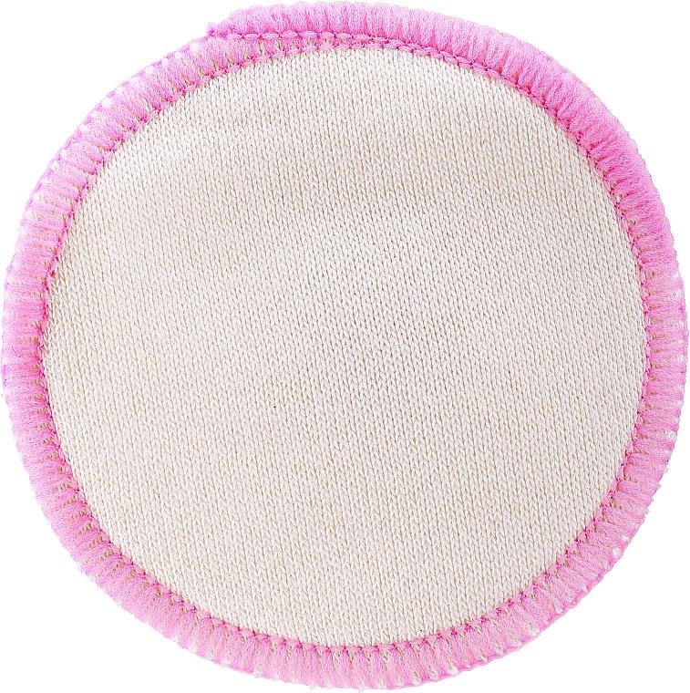 Многократен тампон за почистване на грим, бяло-розов - Deni Carte