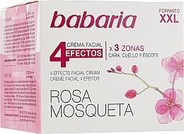Парфюмерия и Козметика Подмладяващ крем за лице и шия - Babaria Rosa Mosqueta 4 Effects Facial Cream