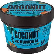 """Парфюми, Парфюмерия, козметика Крем за тяло """"Кокос и кумкуат"""" - Cafe Mimi Body Cream Coconut And Kumquat"""