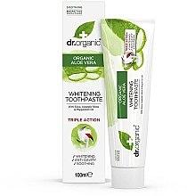 Парфюми, Парфюмерия, козметика Паста за зъби с алое вера - Dr. Organic Aloe Vera Whitening Toothpaste