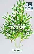 Парфюмерия и Козметика Натурална памучна маска за лице с екстракт от чаено дърво - The Saem Natural Tea Tree Mask Sheet