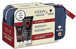 Парфюмерия и Козметика Комплект - Vichy Homme (душ гел/200ml + флуид за лице/50ml + козм. чанта)