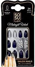 Парфюми, Парфюмерия, козметика Комплект изкуствени нокти - Sosu by SJ False Nails Medium Stiletto Midnight Velvet