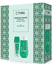Парфюми, Парфюмерия, козметика C-Thru Emerald Shine - Комплект (спрей за тяло/75ml + душ гел/250ml)