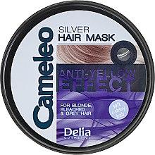 Парфюмерия и Козметика Маска за руса коса против жълти нюанси - Delia Cameleo Silver Hair Mask