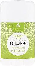 """Парфюмерия и Козметика Дезодорант базиран на сода """"Персийски лайм"""" - Ben & Anna Natural Soda Deodorant Persian Lime"""