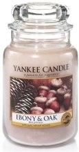 """Парфюми, Парфюмерия, козметика Ароматна свещ """"Дъб и черно дърво"""" - Yankee Candle Ebony and Oak"""