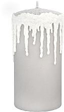 "Парфюмерия и Козметика Декоративна свещ, ""Висулки"", сива, 7х14см - Artman"