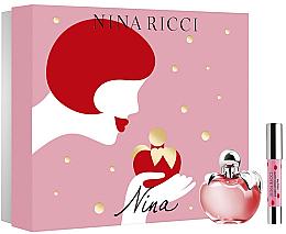 Парфюми, Парфюмерия, козметика Nina Ricci Nina - Комплект (тоал. вода/80ml + червило)