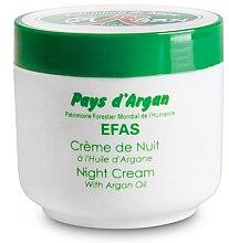 Парфюмерия и Козметика Нощен крем за лице - Efas Night Cream With Argan Oil