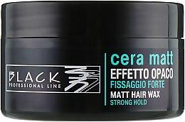 Парфюмерия и Козметика Восък за коса с матиращ ефект - Black Professional Line Cera Matt Effetto Opaco