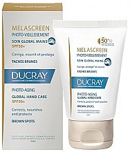 Парфюми, Парфюмерия, козметика Средства против пигментация на кожата на ръцете - Ducray Melascreen Global Hand Care SPF 50+