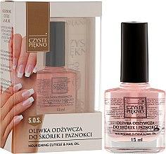Парфюмерия и Козметика Масло за нокти и кожички - Czyste Piekno Nourising Cuticle & Nail Oil