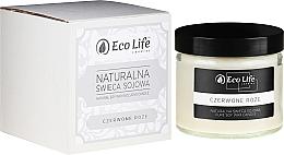 """Парфюмерия и Козметика Ароматна свещ """"Червена роза"""" - Eco Life Candles"""